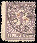 Germany Stuttgart 1887 local stamp 1.5pf - 6a used.jpg