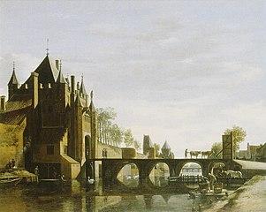 View of the Grote Houtpoort, Haarlem