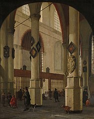 View in the Oude Kerk, Delft