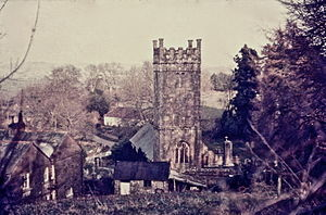 Gidleigh - Holy Trinity granite church in 1971