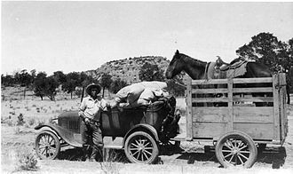Gila National Forest - A Gila Forest Ranger with his outfit, 1928