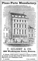 Gilbert WashingtonSt BostonDirectory 1852.png