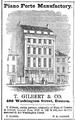 Gilbert WashingtonSt BostonDirectory 1852.png
