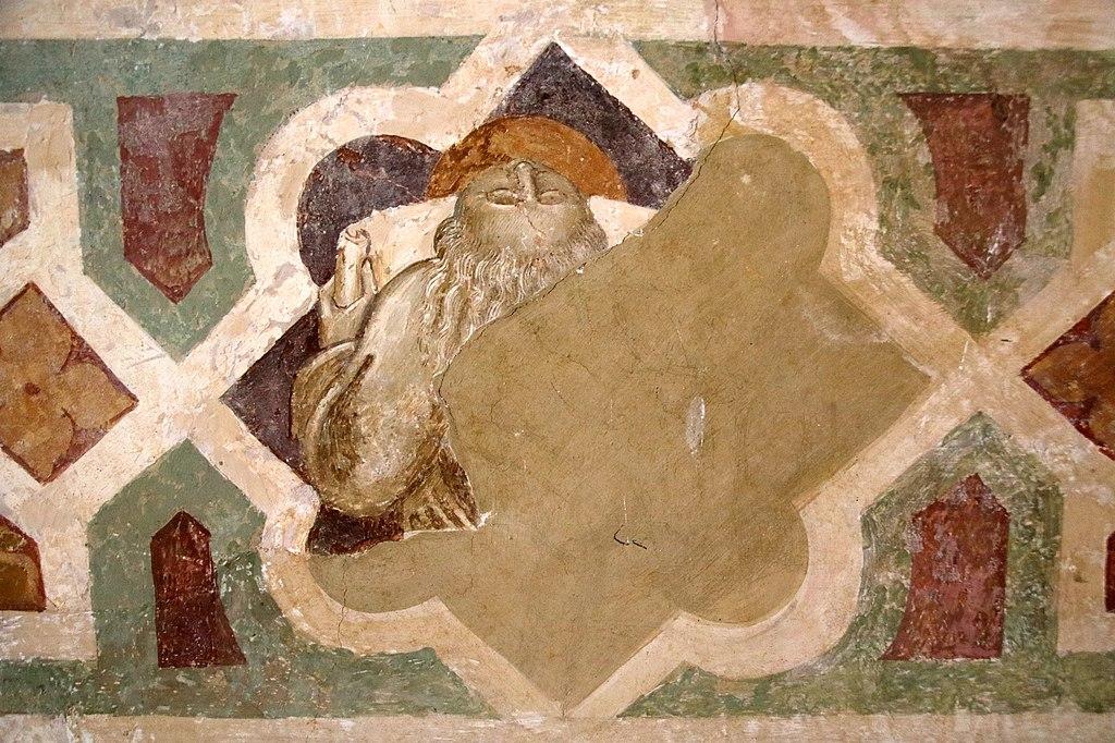 Giovanni di Paolo, Crocifissione (particolare), affresco, L' eremo di San Leonardo al Lago, Siena
