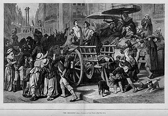 "History of terrorism - ""Enemies of the people"" headed for the guillotine during the Reign of Terror"