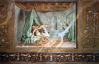 1536 in art - Romano – Tarquin and Lucretia, fresco, Ducal palace, Mantua