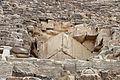 Giza, grande piramide di cheope, 06 antico ingresso.JPG