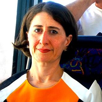 Premier of New South Wales - Image: Gladys Berejiklian Crop P1060782