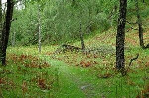 Glenmoriston - The cairn marks the site of the Glenmoriston Footprints.