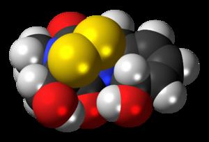 Gliotoxin - Image: Gliotoxin 3D spacefill