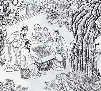 Four arts - A Ming dynasty print of wéiqí players