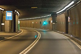 In de Gotthardtunnel