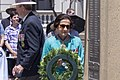 Governor of New South Wales Professor Marie Bashir laying the wreath at the Kangaroo March commemoration ceremony.jpg