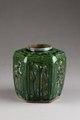 Grön burk för ingefära gjord av lergods i Kina på 1800-talet - Hallwylska museet - 95894.tif