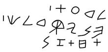 Graffito fenicio della tomba d'Ahiram (necropoli reale di Biblo )