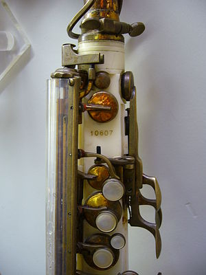Grafton saxophone - Serial number above the front F key