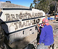 Grand Canyon National Park, Bright Angel Trailhead Sign - Airbrush Staining - Flickr - Grand Canyon NPS.jpg
