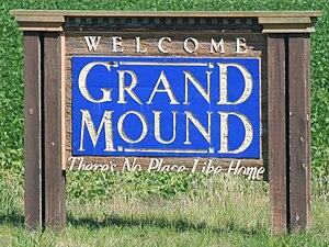Grand Mound, Iowa - City welcome sign
