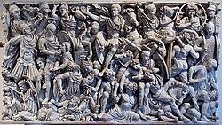 The Goths battling the Romans