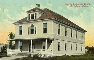 National Grange of the Order of Patrons of Husbandry - Grange Hall in Solon, Maine, circa 1910