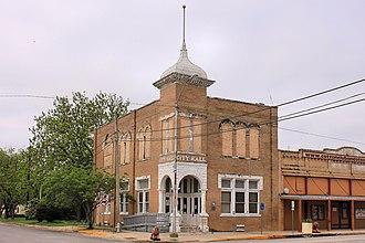 Granger, Texas - Historic former city hall in downtown Granger