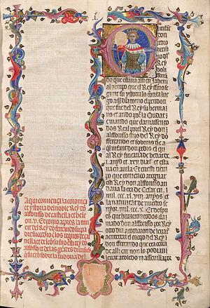 Juan Fernández de Heredia - Juan Fernández de Heredia: Grant Cronica d'Espanya, 1385-1396.