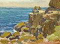 Granville Redmond - Rocky Cliffs, Catalina Island.jpg