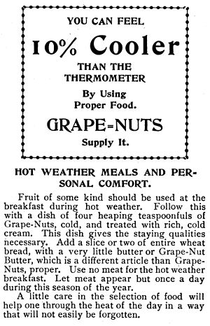 Grape-Nuts - Grape-Nuts ad, 1900