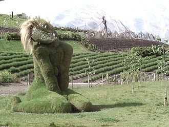 Eden Project - Eve, by Sue and Pete Hill, shaped from the soil