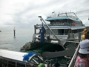 Green Island (Queensland) - A Great Barrier Reef ferry, Green Island