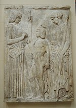 Great Eleusinian relief - replica in Pushkin museum 01 by shakko.jpg