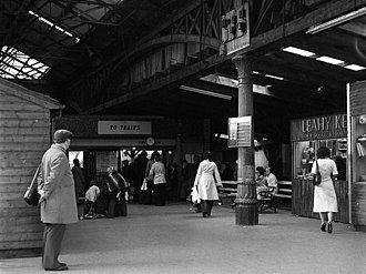 Belfast Great Victoria Street railway station - Interior of the station in 1976.