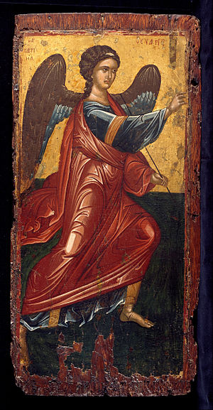 The Archangel Gabriel, from an Annunciation scene on the King's Door of an iconostasis