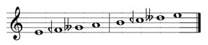 Tetrachord - Two Greek tetrachords in the enharmonic genus, forming an enharmonic Dorian scale