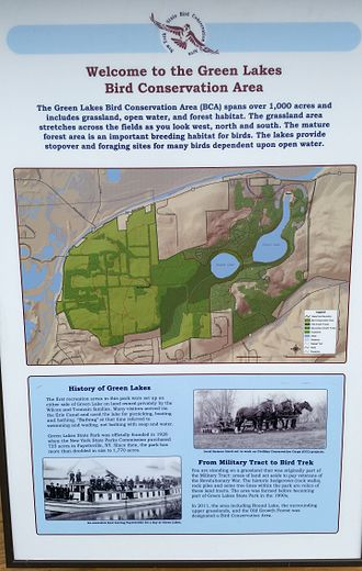 Bird conservation - Bird conservation area, Green Lakes State Park, Manlius, New York