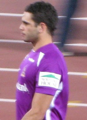 Greg Inglis - Inglis leaving the field following the pre-match warm-up