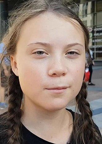 Greta Thunberg - Image: Greta Thunberg, 2018 (cropped)