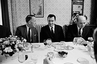 Soviet Union–United States relations - L–R: Llewellyn Thompson, Soviet Foreign Minister Andrei Gromyko and Dean Rusk