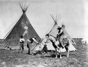 Fort Belknap Indian Reservation - Gros Ventre Camp, 1906