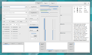 gtk3-widget-factory, is a collection of examples demonstrating many of the GUI widgets in GTK+ version 3