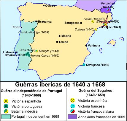Guèrra Ibericas de 1640 a 1668