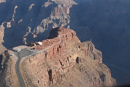 Guano Point - a popular vantage point for tourists, situated on the West Rim of the Grand Canyon, Hualapai Indian Reservation GuanoPoint.jpg