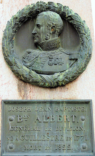 Joseph Jean-Baptiste Albert - Commemorative plaque of Joseph Jean-Baptiste Albert in Guillestre, France, 2011