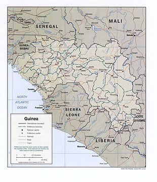 Guinea Cartina Geografica.Geografia Della Guinea Wikipedia