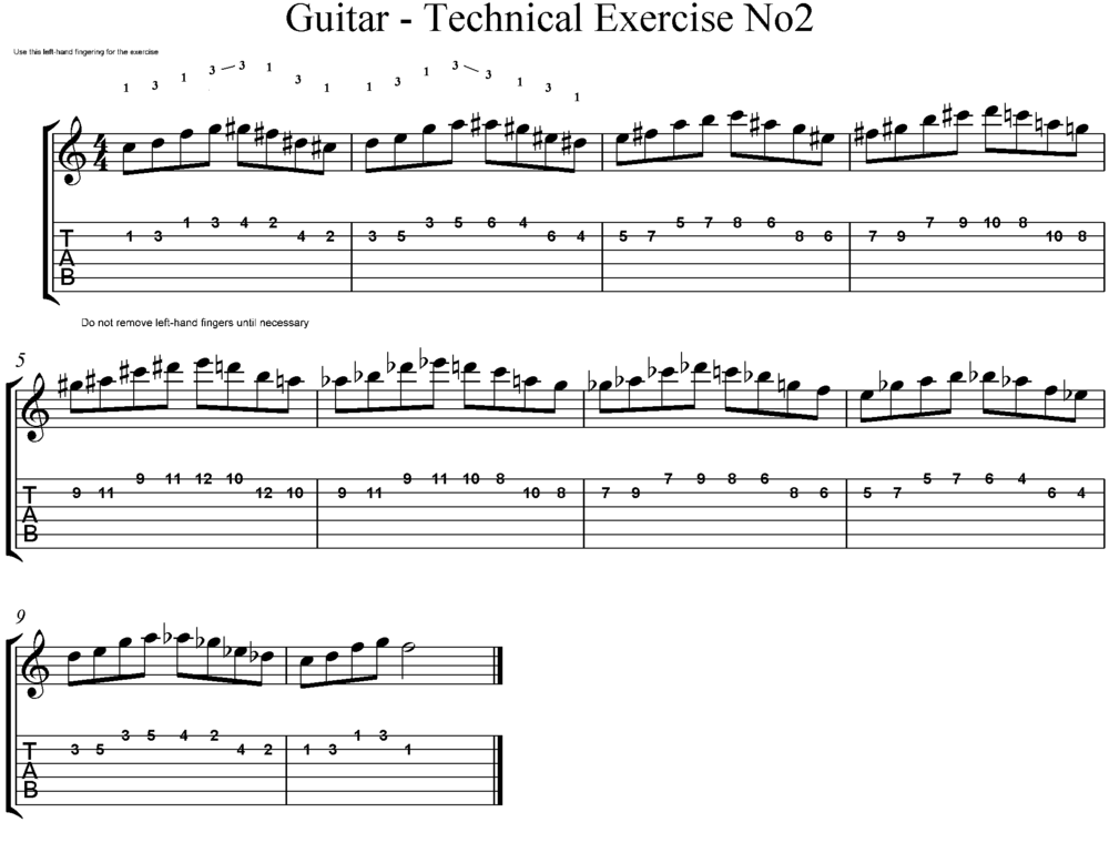 Guitartechnical Exercises Wikibooks Open Books For An Open World