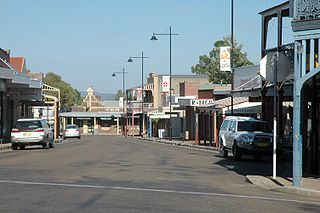 Gulgong Town in New South Wales, Australia