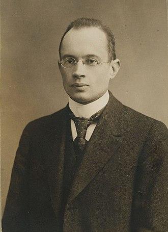 Gunnar Nordström - Nordström at the age of 35