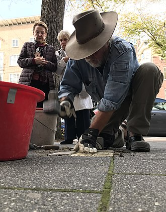Stolperstein - Stolperstein installation in Amsterdam Beethovenstraat 55 on October 3, 2018