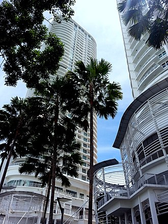 Gurney Drive, George Town - Gurney Paragon consists of a shopping mall and a pair of condominiums, which rank among the tallest skyscrapers in Penang.