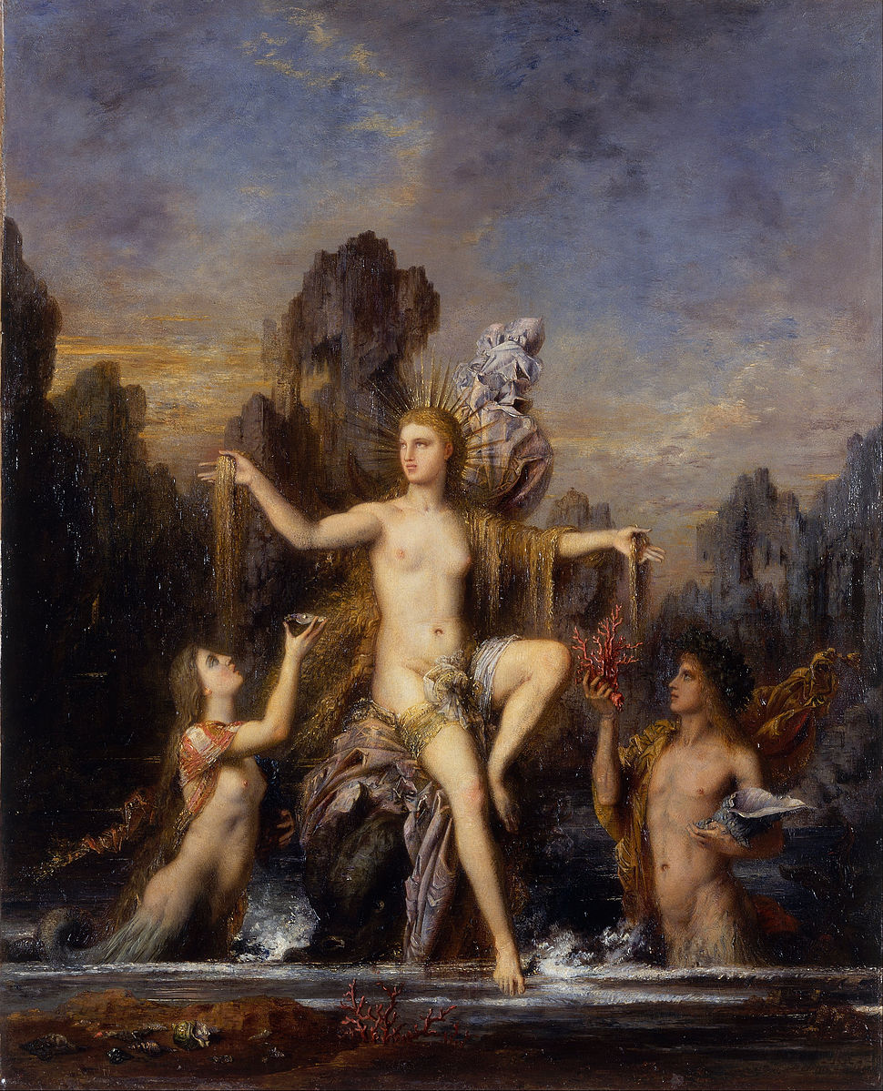 Gustave Moreau - Venus Rising from the Sea - Google Art Project